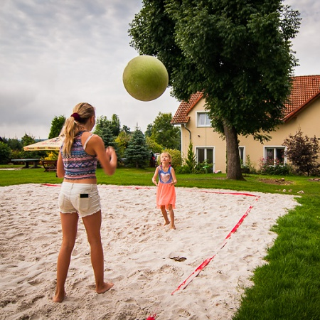 Hřiště na beach volejbal– Wellness Penzion Agáta.