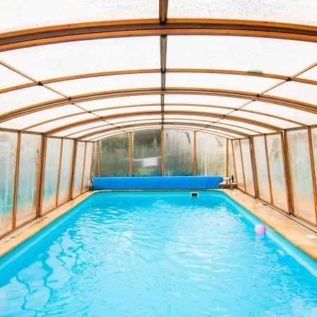 Vyhřívaný bazén po celou sezónu – Wellness Penzion Agáta.
