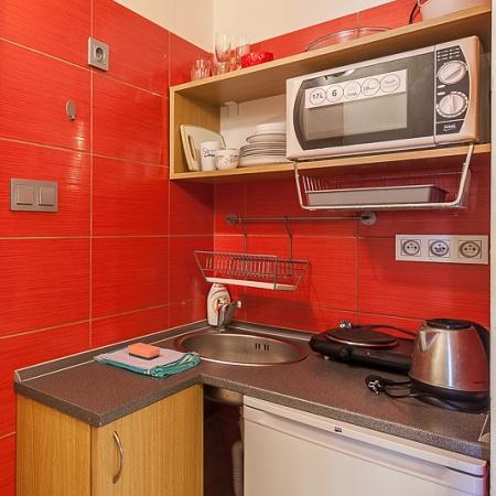 Kuchyňka je součástí studií a apartmánů – Wellness Penzion Agáta.